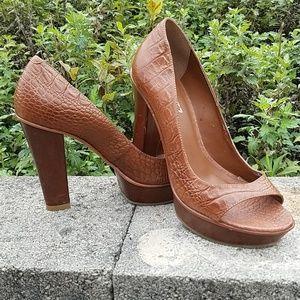 SCHULTZ Peep toe heels
